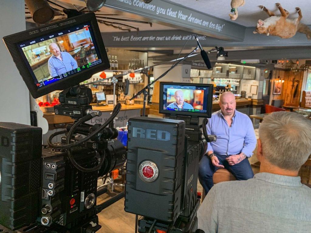 Filming interviews on RED Cinema cameras.